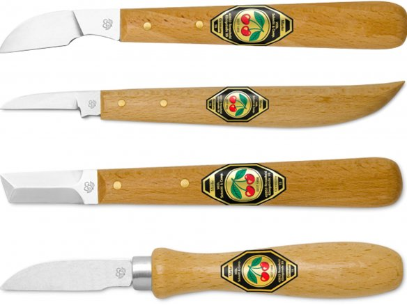 Kirschen chip carving knives