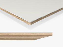 Linoleum tabletop, bevelled edge, 3mm radius custom cutting