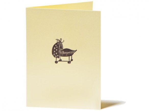 Tarjeta con xilografía para ocasiones especiales