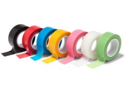 Teraoka TAPLE P-cut cloth adhesive tape, coloured