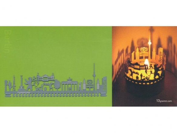 T-Light tea candle silhouette  postcards