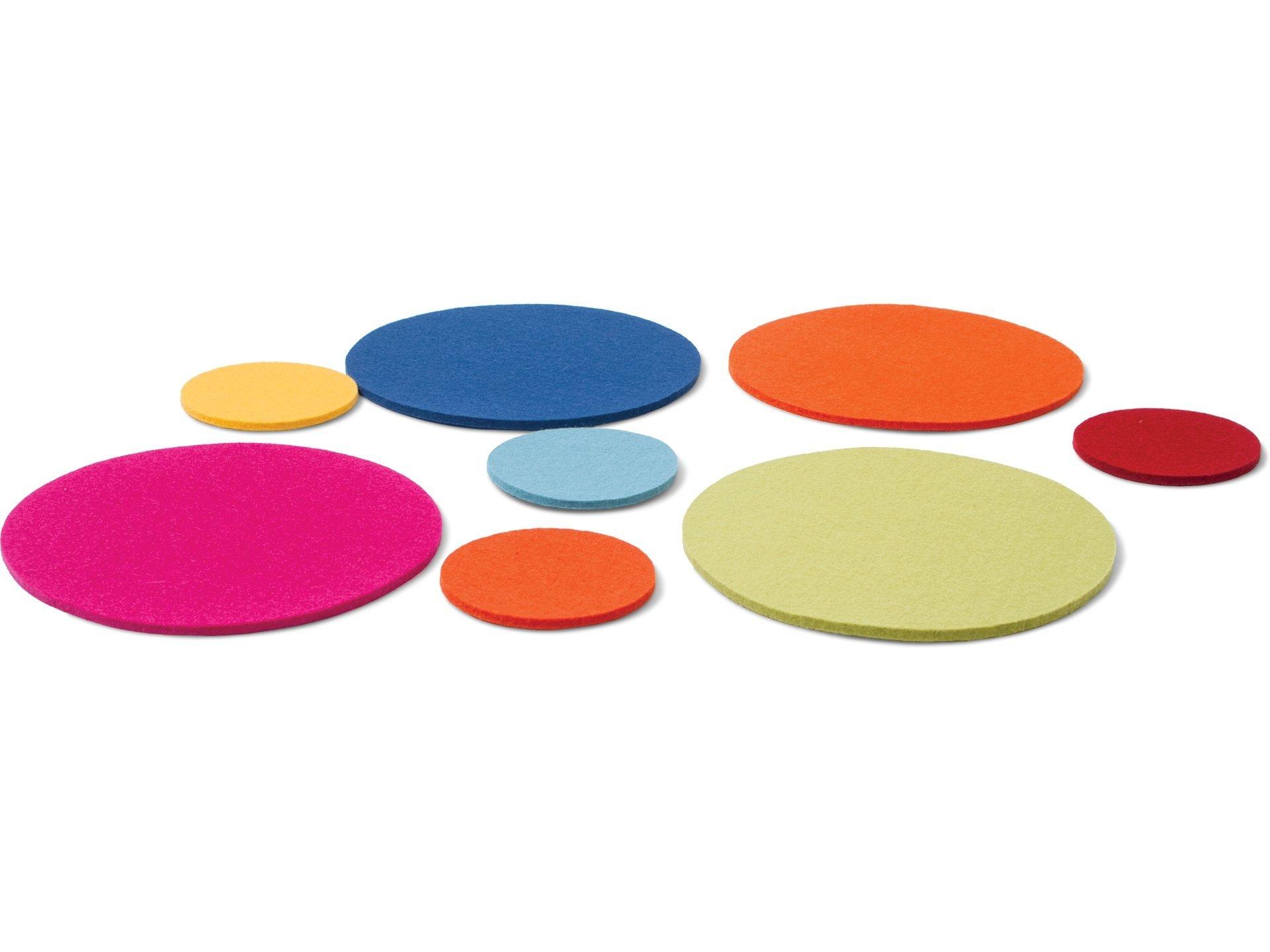Preferenza Acquistare Sottopiatti in feltro, rotondi, colori assortiti online  GN23