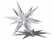 Estrella de plástico transparente, tridimensional