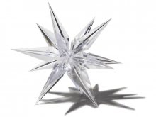 Plastic star, transparent, three-dimensional