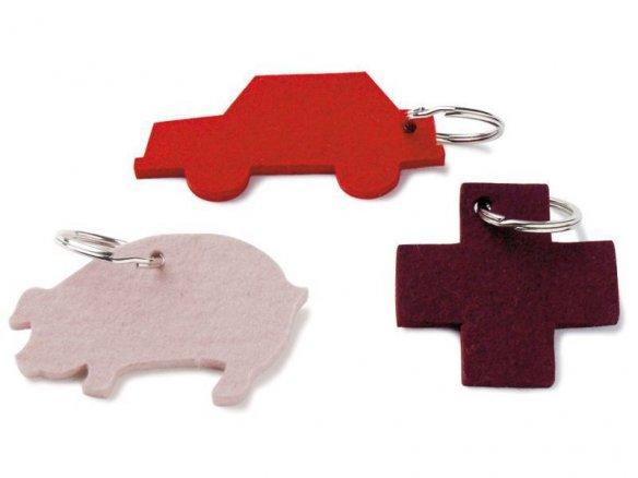 Felt key-chain pendant, motif