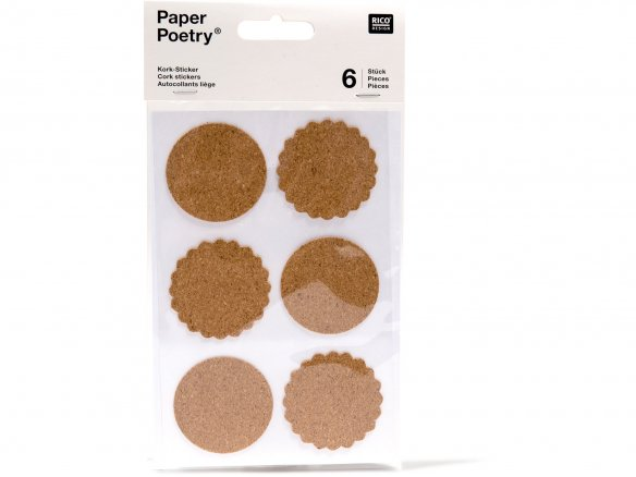 Paper Poetry cork sticker
