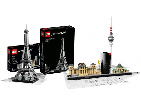 Lego architecture model building kit